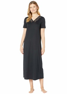 Hanro Moments Short Sleeve Long Gown