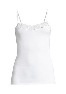 Hanro Najuma Lace-Trimmed Mercerized Cotton Cami