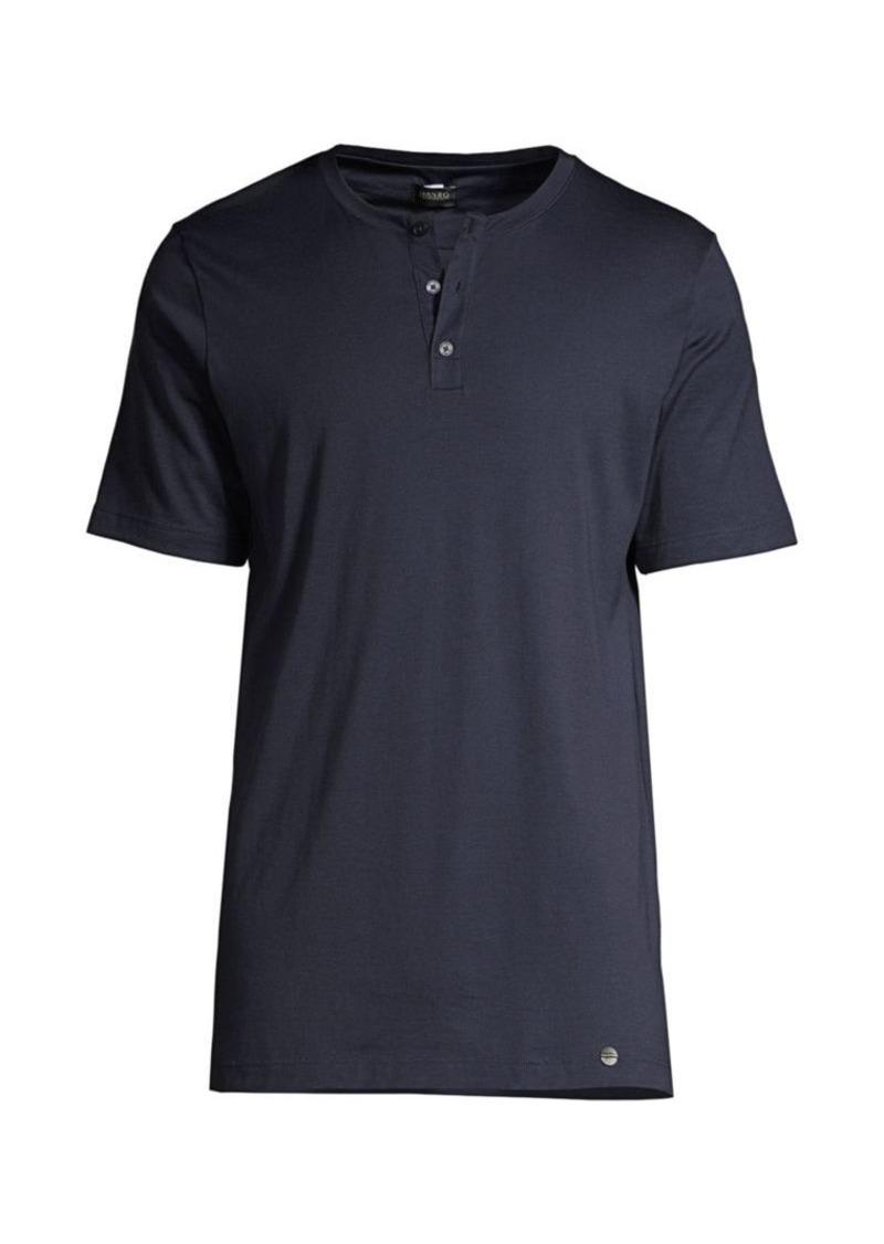 Hanro Night & Day Short Sleeve Henley Shirt