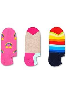 Happy Socks 3-Pack Happy Rainbow Sneaker Liner