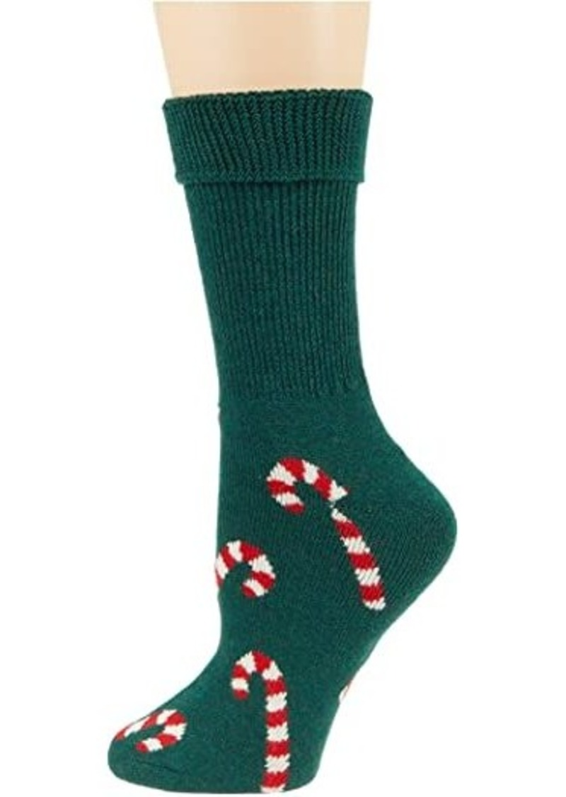 Candy Cane Cozy Sock