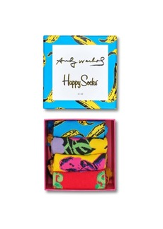 Happy Socks Andy Warhol Banana 4 Pack Gift Box Sock