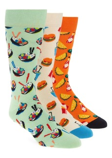 Happy Socks Assorted 3-Pack Food Lovers Socks Gift Box