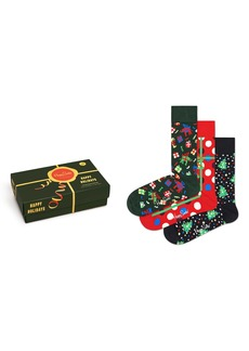 Happy Socks Assorted 3-Pack Holiday Socks Gift Box