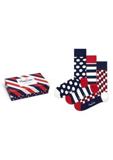 Happy Socks Assorted 3-Pack Patterned Socks
