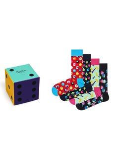 Happy Socks Assorted 4-Pack Game Night Socks Gift Box