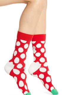 Happy Socks Big Dot Snowman Crew Socks
