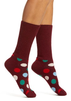 Happy Socks Big Dot Wool Blend Crew Socks
