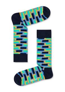 Happy Socks Brick Cube Crew Socks