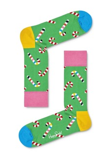 Happy Socks Candy Cane Crew Socks