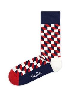 Happy Socks Cubed Optic Socks