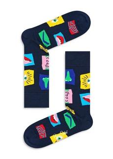Happy Socks Face Cubes Crew Socks