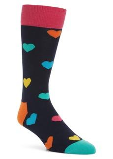 Happy Socks Heart Pattern Socks (3 for $30)