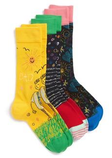 Happy Socks I Love You Dad 3-Pack Socks