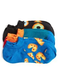 Happy Socks Junk Food Assorted 3-Pack Liner Socks