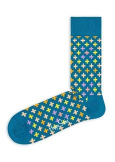 Happy Socks Plus-Symbol Crew Socks