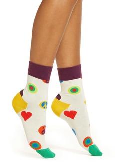 Happy Socks Symbol Dot Half Crew Socks