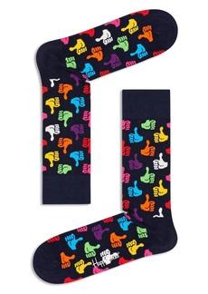 Happy Socks Thumbs Up Crew Socks