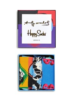 Happy Socks Warhol Skull Gift Box - Pack of 3