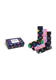 Happy Socks Women's Cat Lover Gift, Pack of 3
