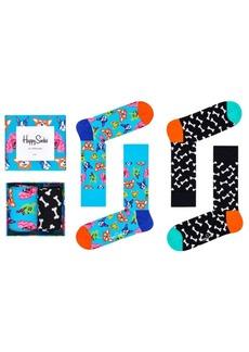 Happy Socks Women's Dog Socks Gift Box, Pack of 2