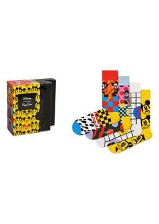 Happy Socks x Disney 4-Pack Assorted Crew Socks Gift Box