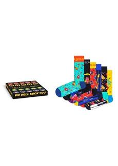 Happy Socks x Queen 6-Pack Sock Gift Box