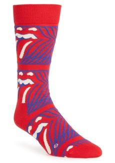 Happy Socks x Rolling Stones Stripe Me Up Crew Socks (Limited Edition)