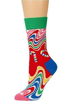 Happy Socks Psychedelic Candy Cane Sock