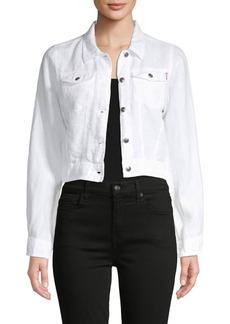 Hard Tail Crop Linen Jean Jacket