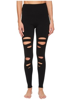 Hard Tail Flat Waist Laser Ankle Leggings
