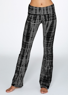 Hard Tail + Rolldown Printed Boot Leg Yoga Pant
