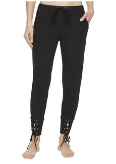 Hard Tail Fitted Sweatpants with Lace-Up Cuff