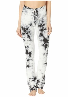 Hard Tail High-Waisted Lace-Up Skinny Flare Pants