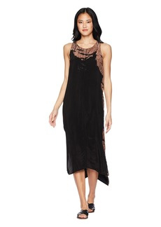 Hard Tail Honeycomb Yoke Tank Dress