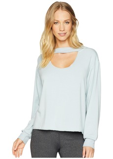 Hard Tail Long Sleeve Cropped Banded Pullover