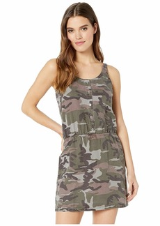 Hard Tail Pull-On Button Tank Dress