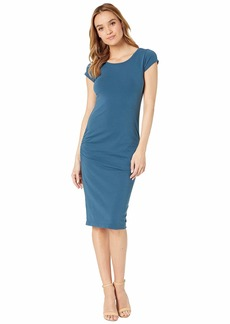 Hard Tail Sexy Ruched Cap Sleeve Dress