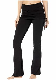 Hard Tail Tie Skirt Boot Leg Flare Pants
