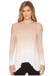 Hard Tail Wrap Back Cold Shoulder Top