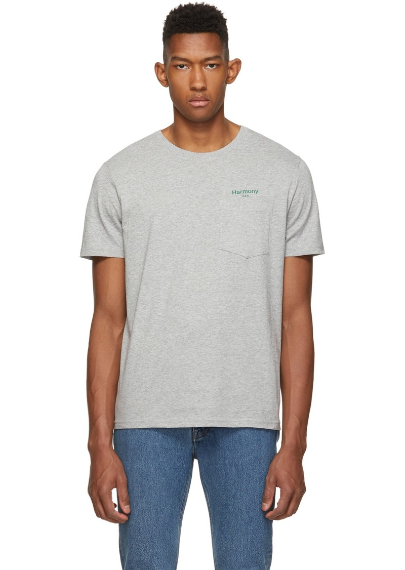 Harmony Grey 'USA' Teddy T-Shirt