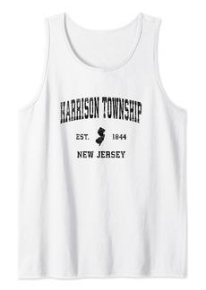 Harrison Township New Jersey NJ Vintage Sports Design Black Tank Top