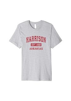 Mens Harrison Arkansas AR Vintage Sports Design Red Design Premium T-Shirt