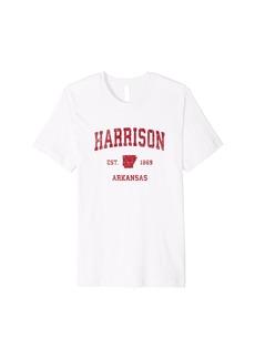 Mens Harrison Arkansas AR Vintage Sports Design Red Print Premium T-Shirt