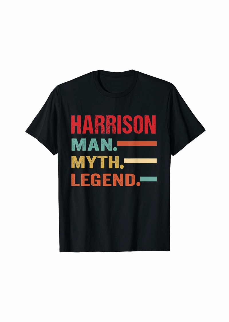 Mens HARRISON Man Myth Legend Vintage First Name Tee T-Shirt