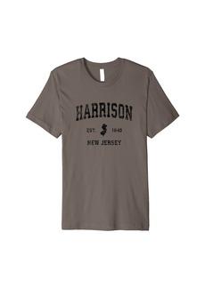 Mens Harrison New Jersey NJ Vintage Sports Design Black Print Premium T-Shirt