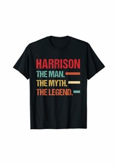 Mens HARRISON The Man Myth Legend Vintage First Name Tee T-Shirt