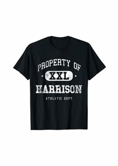 Mens Harrison Vintage Property Athletic Funny T-Shirt