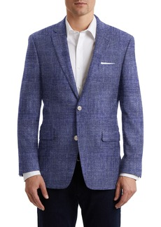 Hart Schaffner Marx Bright Navy Plain Two Button Notch Lapel New York Fit Sports Coat