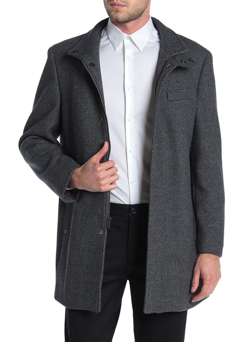 Hart Schaffner Marx Genoa Twill Wool Blend Coat